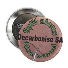 """Decarbonise SA Badge 2.25"""" Button"""