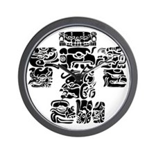 teoti-mayan-front-black-chopped Wall Clock
