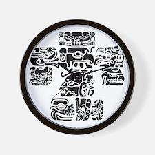 teoti-mayan-front-black-chopped Wall Clock