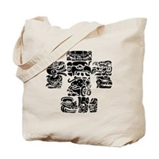 teoti-mayan-front-black-chopped Tote Bag