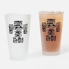 teoti-mayan-front-black-chopped Drinking Glass