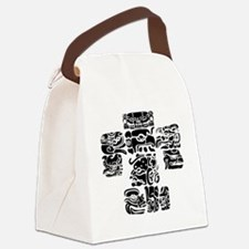 teoti-mayan-front-black-chopped Canvas Lunch Bag