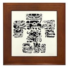 teoti-mayan-front-black-chopped Framed Tile