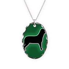 Dog Emergency Sticker Green Necklace