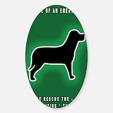 Dog Emergency Sticker Green Decal