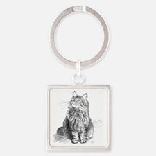 mitty-4in Square Keychain