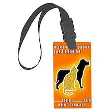 Cat  Dog Emergency Sticker Orang Luggage Tag