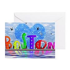 I Heart Boston Greeting Card