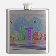 I Heart Boston Flask