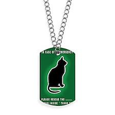 Cat Emergency Sticker Green Dog Tags