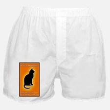 Cat emergency Sticker Orange Boxer Shorts