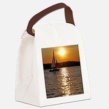 sunsetsailboatframedpic Canvas Lunch Bag