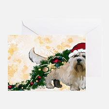 dandie dinmont Christmas Greeting Card