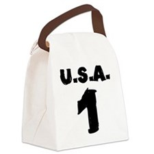 ridin-solo-t-shirt back Canvas Lunch Bag
