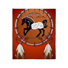 Horse n Arrows PosterP Throw Blanket