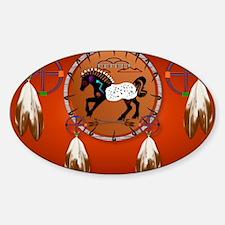 Yard SigN-Horse n Arrows Sticker (Oval)