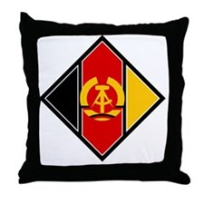 East Germany Roundel Throw Pillow