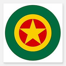 """5x5-Roundel_ethiopia Square Car Magnet 3"""" x 3"""""""