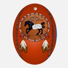 lkeychainHorse n Arrows Oval Ornament