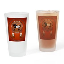 Horse n Arrows circle Drinking Glass