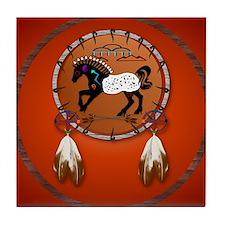 Horse n Arrows circle Tile Coaster