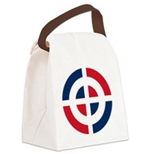831x3-Dominican_Air_Force_roundel Canvas Lunch Bag