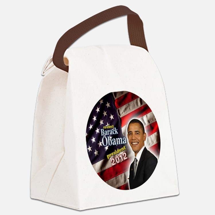 obama button 2012 Canvas Lunch Bag