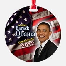 obama button 2012 Ornament