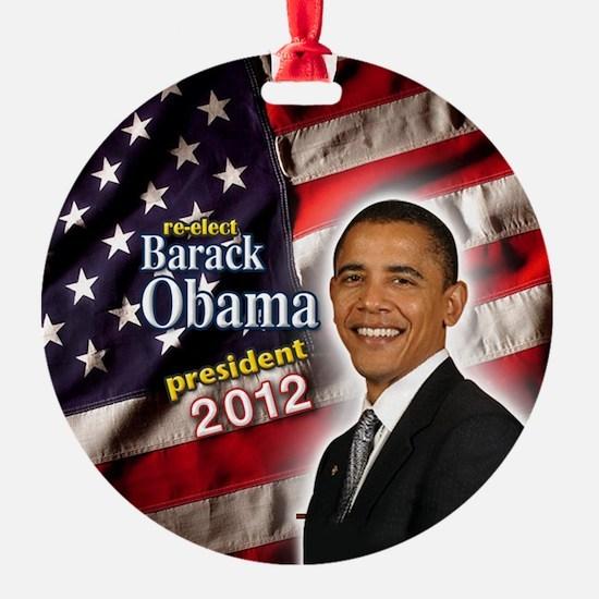 obama button 2012 Ornament