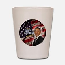 obama button 2012 Shot Glass
