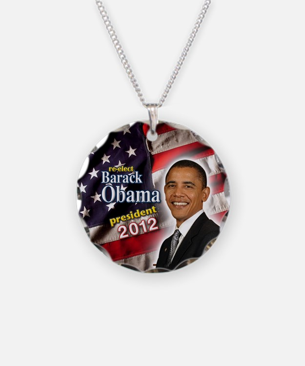 obama button 2012 Necklace Circle Charm