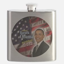 obama button 2012 Flask