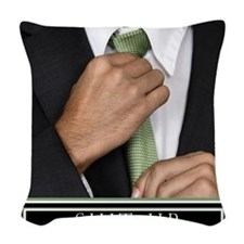 16x20_suitup_h Woven Throw Pillow