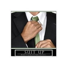 "16x20_suitup_h Square Sticker 3"" x 3"""