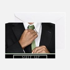 16x20_suitup_h Greeting Card