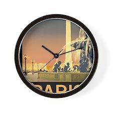 Paris Fountain iPad1 Wall Clock