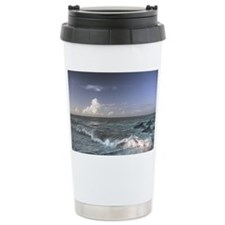 Dolphins In The Surf Travel Mug