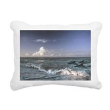 Dolphins In The Surf Rectangular Canvas Pillow