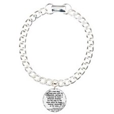 Thoreau Drummer Quote Charm Bracelet, One Charm