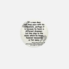 Thoreau Drummer Quote Mini Button