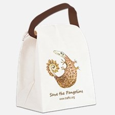 button badge Canvas Lunch Bag