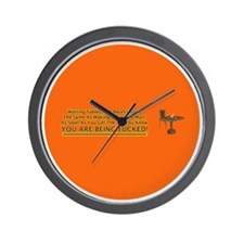 waiting tables button Wall Clock