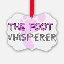 The Foot Whisperer PINK Ornament