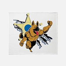 Police K9 Super Hero Throw Blanket