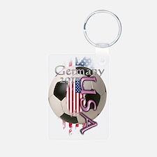 soccer usa women Keychains