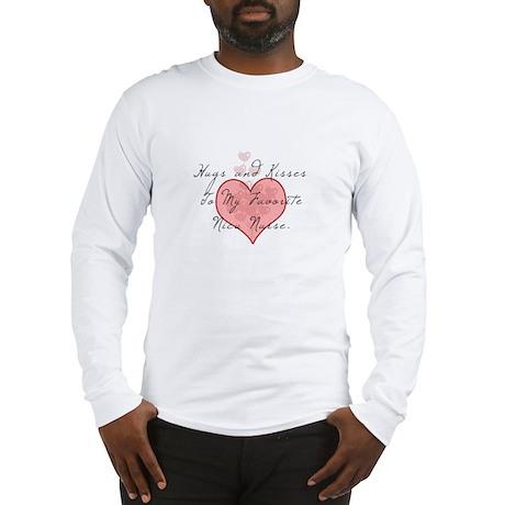 Hugs and kisses to my Nicu nu Long Sleeve T-Shirt