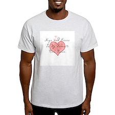 Hugs and kisses to my Nicu nu Ash Grey T-Shirt