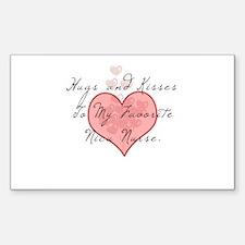 Hugs and kisses to my Nicu nu Sticker (Rectangular