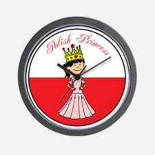 Polish Princess Baby Girl Wall Clock