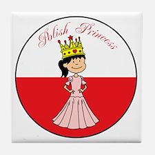 Polish Princess Baby Girl Tile Coaster